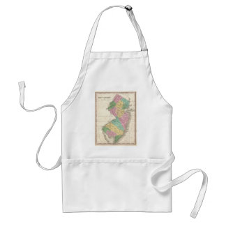 Vintage Map of New Jersey (1827) Aprons