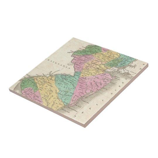 Vintage Map of New Jersey (1827) Ceramic Tile