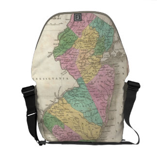 Vintage Map of New Jersey (1827) Courier Bag