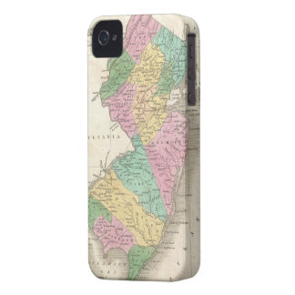 Vintage Map of New Jersey (1827) iPhone 4 Case-Mate Case