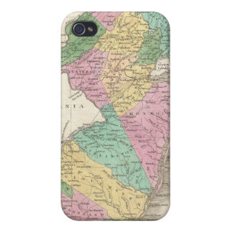 Vintage Map of New Jersey (1827) iPhone 4 Cover