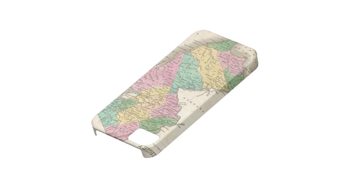 Case Design zazzle phone cases : Vintage Map of New Jersey (1827) iPhone SE/5/5s Case : Zazzle