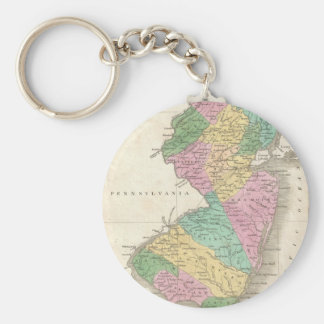 Vintage Map of New Jersey (1827) Keychain