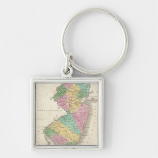 Vintage Map of New Jersey (1827) Key Chains