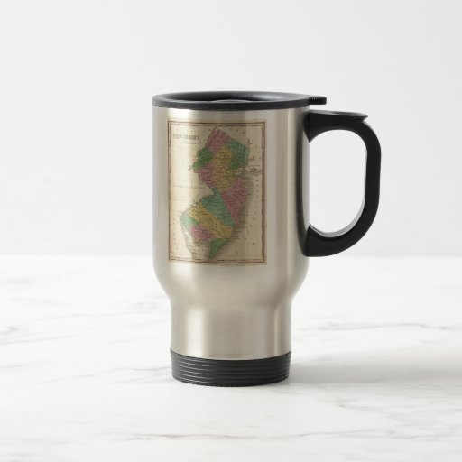 Vintage Map of New Jersey (1827) 15 Oz Stainless Steel Travel Mug