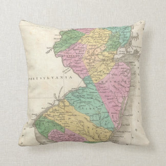 Vintage Map of New Jersey (1827) Pillow