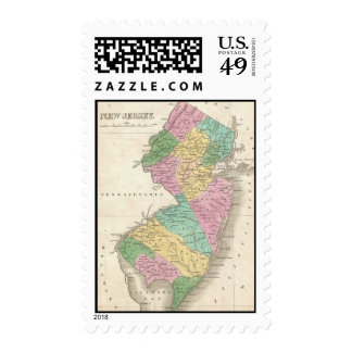 Vintage Map of New Jersey 1827 Stamps