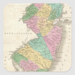 Vintage Map of New Jersey (1827) Square Sticker