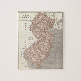 Vintage Map of New Jersey (1845) Jigsaw Puzzle