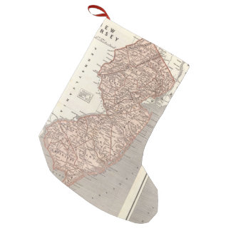 Vintage Map of New Jersey (1845) Small Christmas Stocking