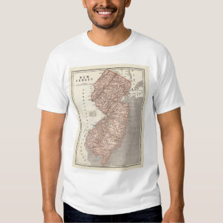 Vintage Map of New Jersey (1845) T-shirt