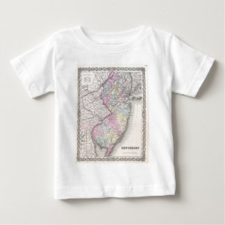 Vintage Map of New Jersey (1855) Infant T-shirt