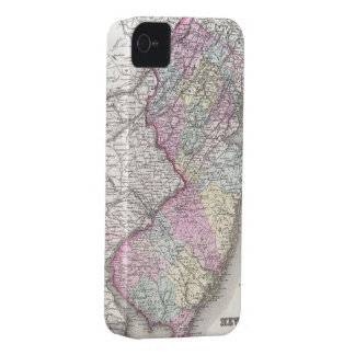 Vintage Map of New Jersey (1855) iPhone 4 Case-Mate Case