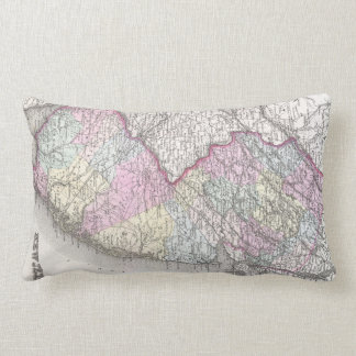 Vintage Map of New Jersey (1855) Pillow