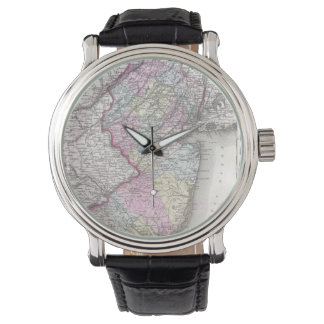 Vintage Map of New Jersey (1855) Wristwatch