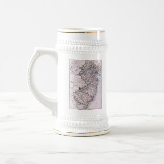 Vintage Map of New Jersey (1884) Beer Stein