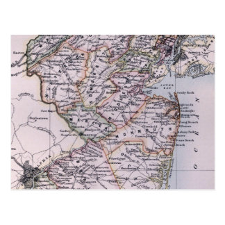 Vintage Map of New Jersey 1884 Post Cards
