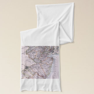 Vintage Map of New Jersey (1884) Scarf