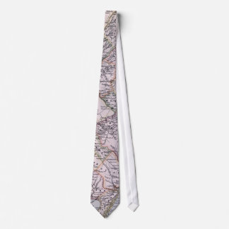Vintage Map of New Jersey (1884) Tie