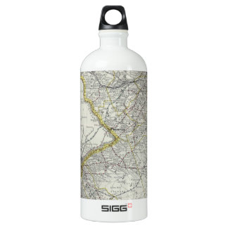 Vintage Map of New Jersey (1889) Aluminum Water Bottle