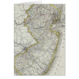 Vintage Map of New Jersey 1889 Greeting Cards