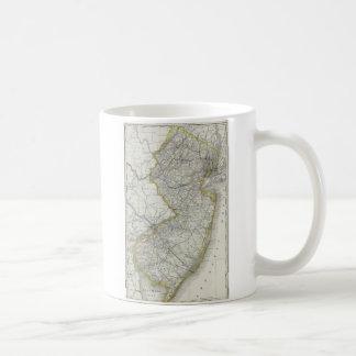 Vintage Map of New Jersey (1889) Coffee Mug