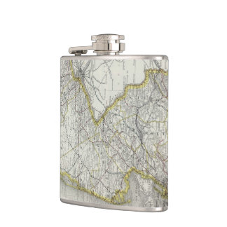 Vintage Map of New Jersey (1889) Hip Flask