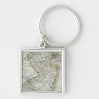Vintage Map of New Jersey (1889) Keychain