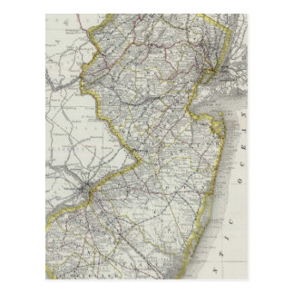 Vintage Map of New Jersey (1889) Post Cards