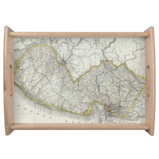 Vintage Map of New Jersey (1889) Serving Tray