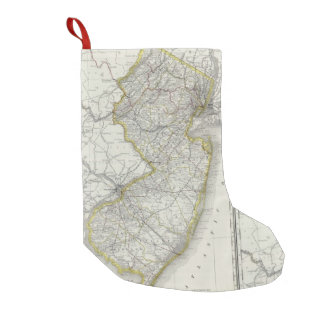 Vintage Map of New Jersey (1889) Small Christmas Stocking