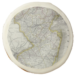 Vintage Map of New Jersey (1889) Sugar Cookie