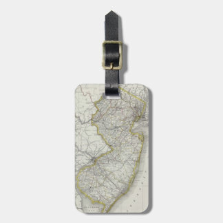 Vintage Map of New Jersey (1889) Tag For Luggage