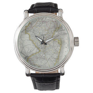 Vintage Map of New Jersey (1889) Wrist Watch
