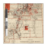 Vintage Map of New Mexico (1882) Dry Erase Whiteboard