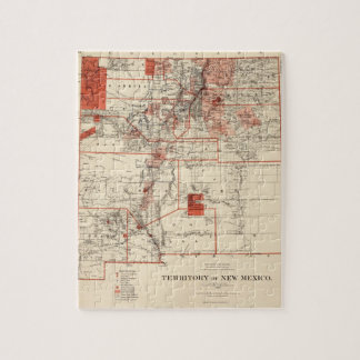 Vintage Map of New Mexico (1882) Jigsaw Puzzle