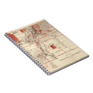 Vintage Map of New Mexico (1882) Notebook