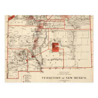 Vintage Map of New Mexico (1882) Postcard