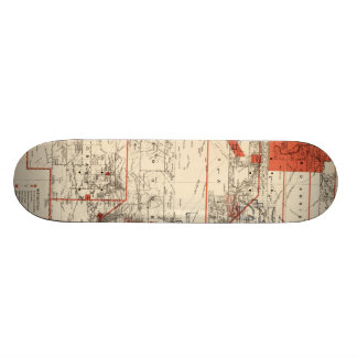Vintage Map of New Mexico (1882) Skateboard Deck