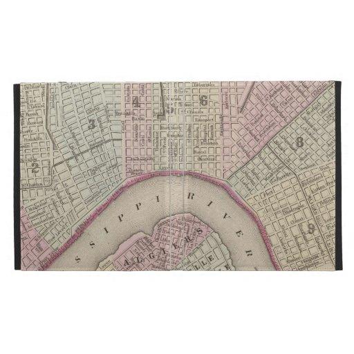 Vintage Map of New Orleans (1880) iPad Folio Cases