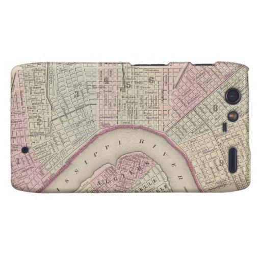 Vintage Map of New Orleans (1880) Motorola Droid RAZR Cases