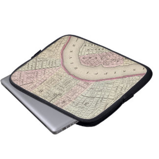 Vintage Map of New Orleans (1880) Laptop Sleeve