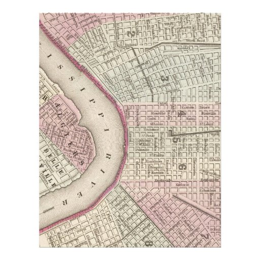 Vintage Map of New Orleans (1880) Personalized Letterhead