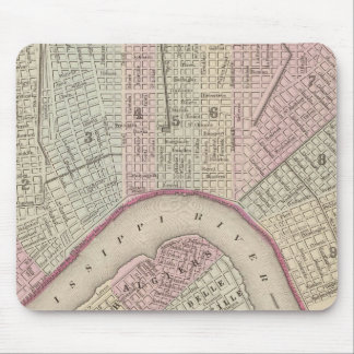 Vintage Map of New Orleans (1880) Mouse Pad