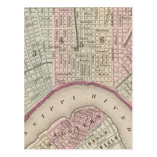 Vintage Map of New Orleans (1880) Postcards
