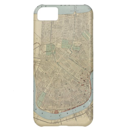 Vintage Map of New Orleans (1919) Case For iPhone 5C