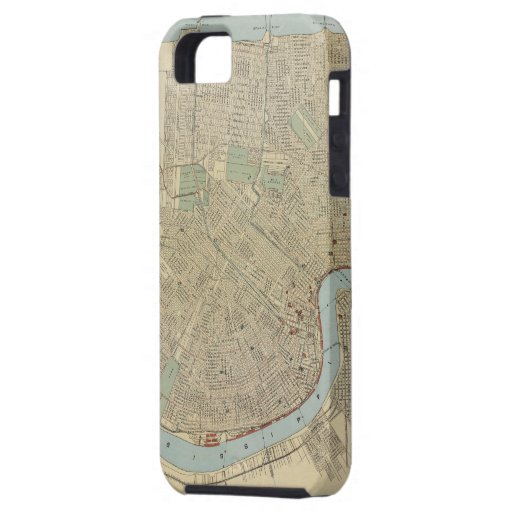 Vintage Map of New Orleans (1919) iPhone 5 Covers