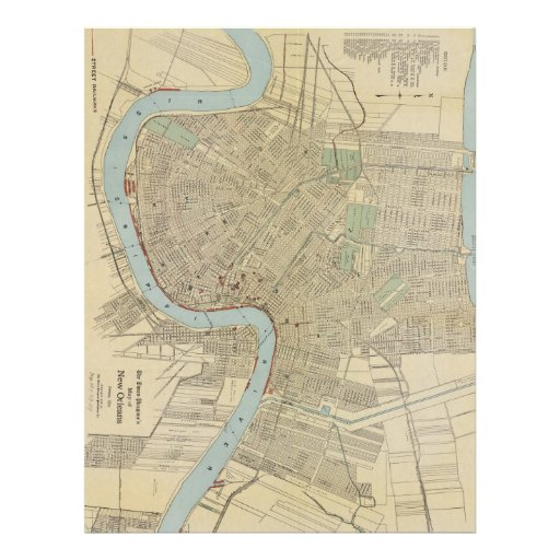 Vintage Map of New Orleans (1919) Personalized Letterhead