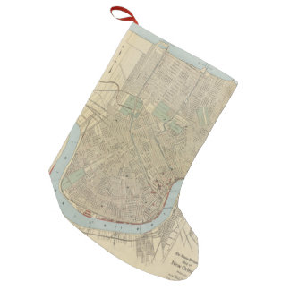 Vintage Map of New Orleans (1919) Small Christmas Stocking