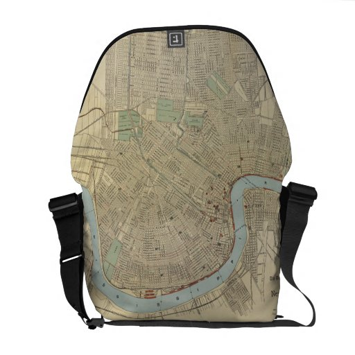Vintage Map of New Orleans (1919) Messenger Bags